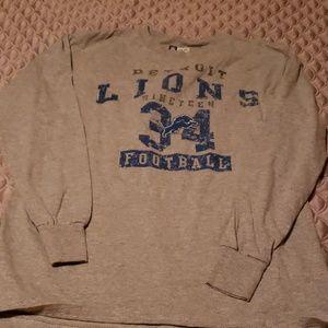 Mens Detroit Lions Long Sleeve Tshirt